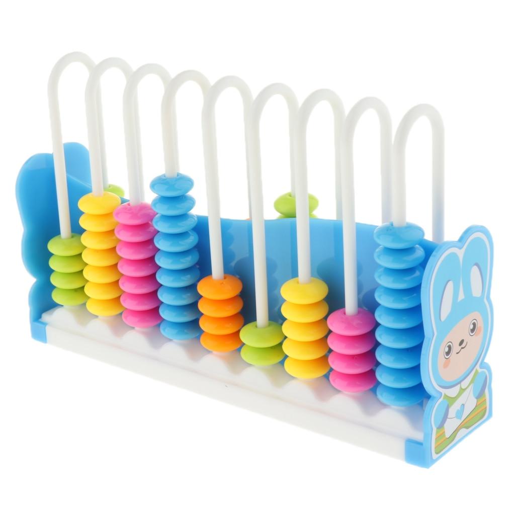 Kinder kinder Cartoon Mathematik Pädagogisches Abacus Spielzeug w/ 90 Bunte Perlen