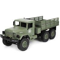 WPL B-16R 1/16 военный грузовик с дистанционным управлением, 6-колесный привод, внедорожник, радиоуправляемая модель автомобиля, восхождение, игр...