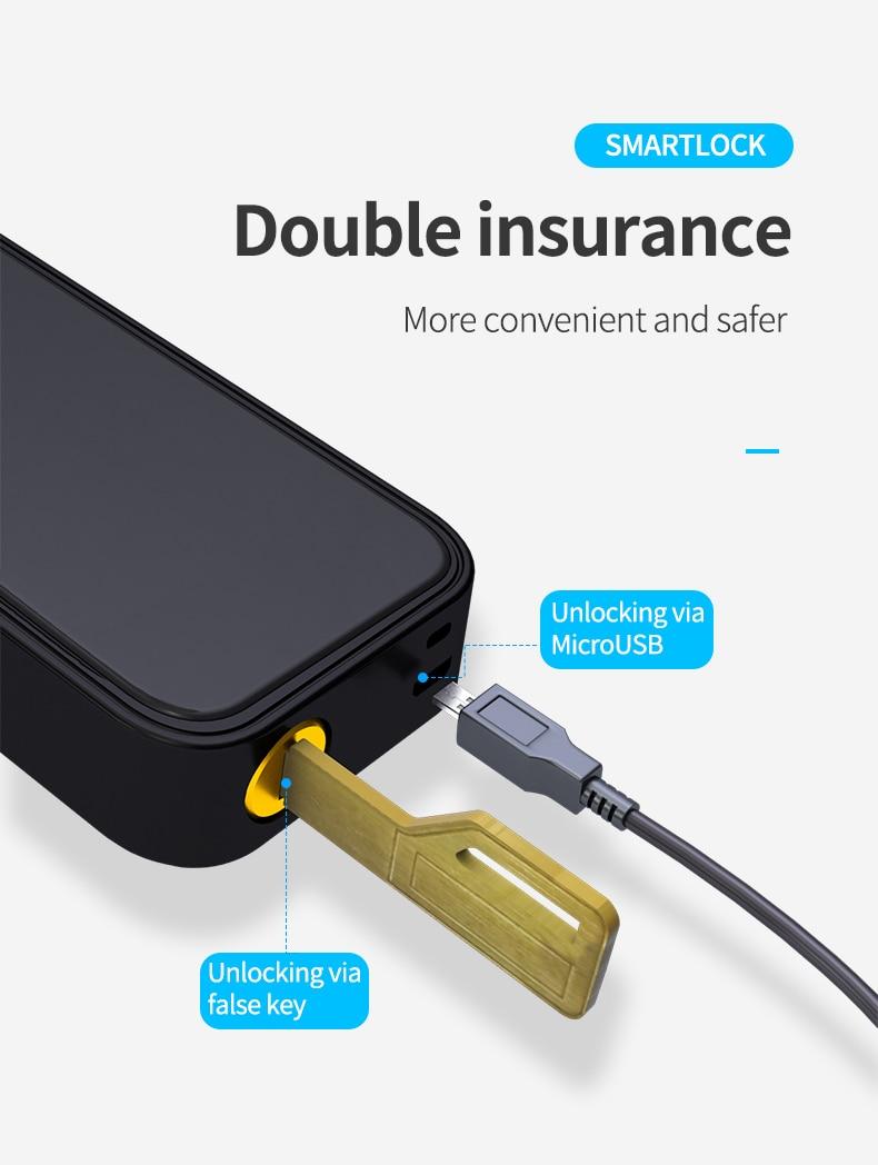 Wireless Electronic Smart Door Lock With TTlock App Home Security Biometric Fingerprint Lock Digital Password NFC Card Lock