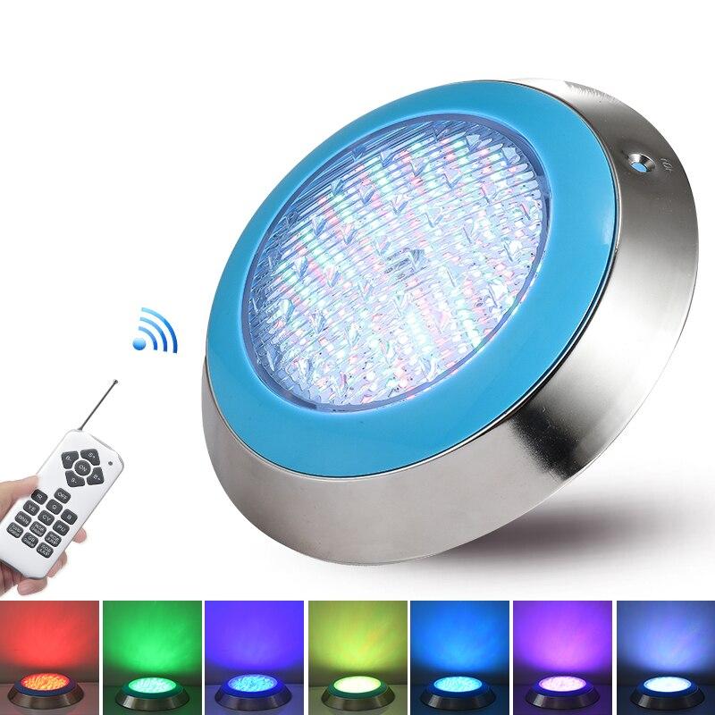 In Acciaio Inox Ip68 Ha Condotto La Luce Piscina 35W 45W Impermeabile Blu Lampade Luci Subacquee AC12V RGB