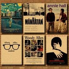 New Woody Allen Poster Vintage Retro Matte Kraft Paper Antique Poster Wall Sticker Home Decora wall sticker