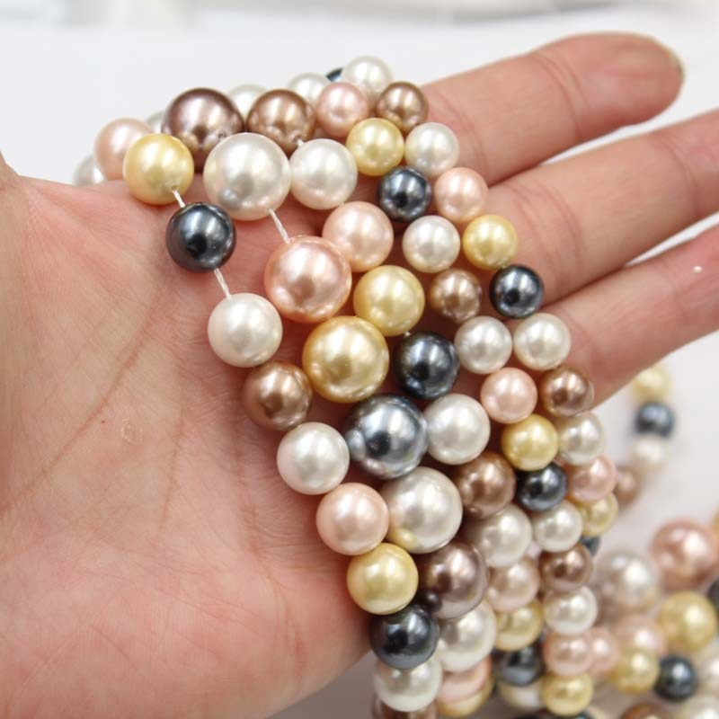 natural white mother of pearl shell handmade 26mm carven flower pendant 18 long MeiBeads 30pcs/lot Natural Freshwater Pearl Beads Shell Pearl For DIY Making Elegant Bracelet Necklace Handmade Party Jewelry