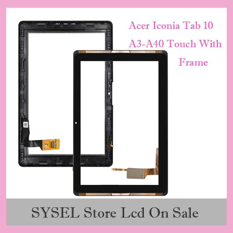 Para Acer Iconia Tab 10 A3-A40, Panel de Digitalizador de pantalla táctil, Sensor de vidrio, herramientas gratuitas