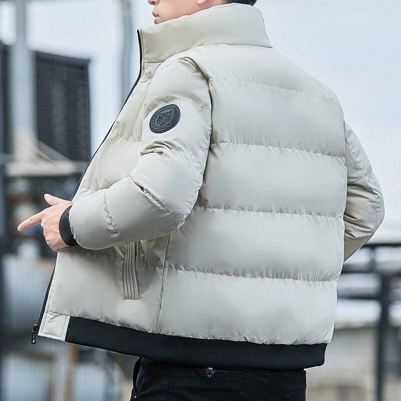 2021 мужская зимняя куртка модная ветровка теплая парка однотонная флисовая куртка оверсайз теплая куртка зимняя мужская одежда