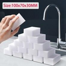 Esponja mágica blanca de melamina, limpiador de borrador, 10x7x3cm, Herramientas de limpieza para cocina, baño y oficina, 50 unids/lote