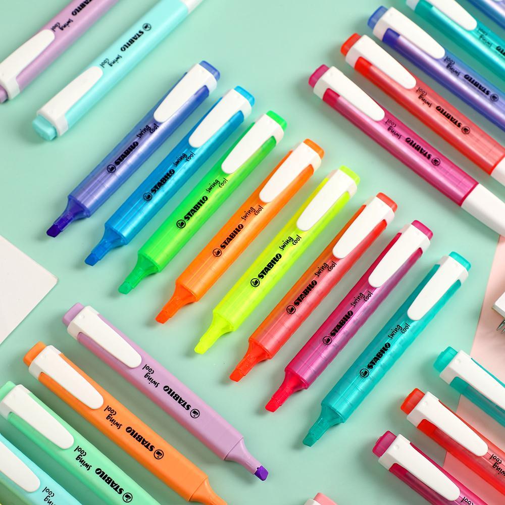 1pc Stabilo Pastel Color Highlighter Cute Creative Macaroon Fluorescent Pen Marker Pen Journal Pens Art Supplies