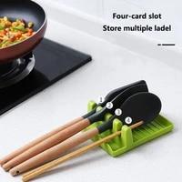 multifunctional spatula holder chopsticks spoon storage rack plastic pot cover shovel stand cutting board tools kitchen utensils