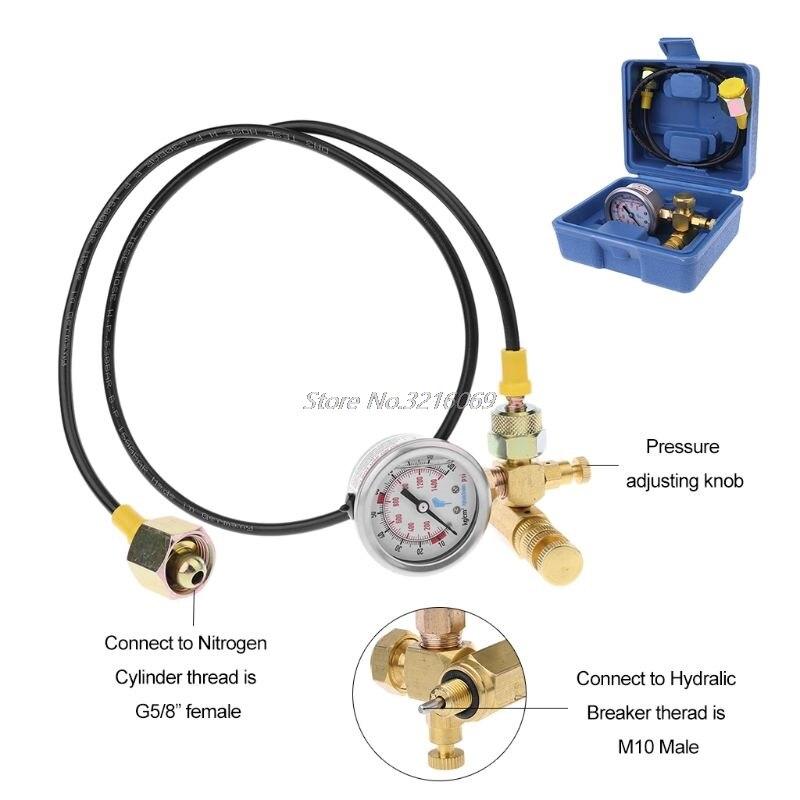 Kit de carga de Gas nitrógeno, dispositivo para disyuntor hidráulico Soosan, medidor de presión de martillo furukawa, venta al por mayor y triangulación de envíos