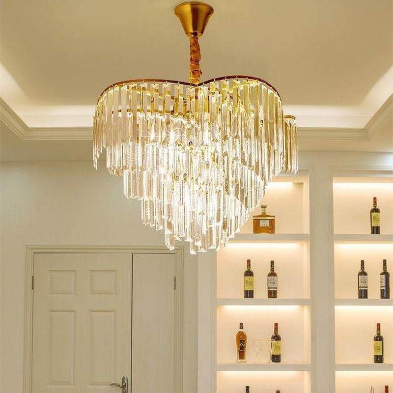 الحديثة كريستال LED الثريا ضوء الذهب الفاخرة مستديرة غرفة المعيشة إضاءة ديكورية غرفة نوم الثريات تركيبات إضاءة داخلية