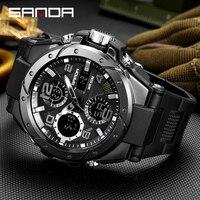 Спортивные военные наручные часы, мужские часы, Брендовые мужские часы для мужчин, часы с двойным дисплеем, наручные часы, армейские уличные...