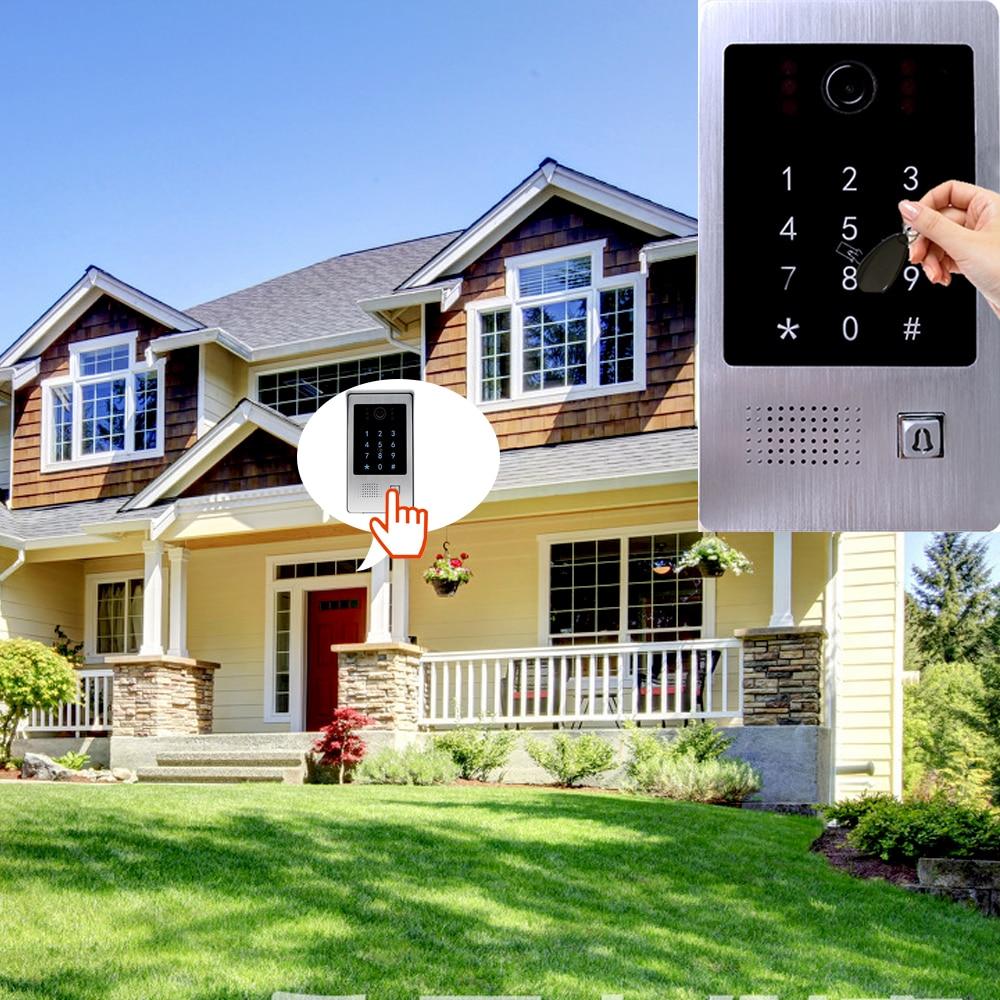 720P AHD Tuya Smart WiFi Video Intercom Keypad/RFID Card Mobile Phone APP Unlock Motion Detection Home Access Control System enlarge