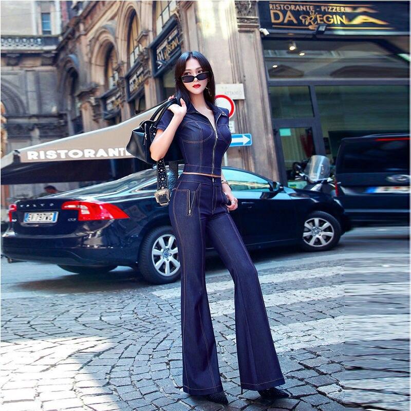 سراويل تخييم نسائية من قطعتين جينز مثير لصيف 2021 فستان خريف عتيق من Vfemage حزمة أوكرانيا فساتين Hip Low Cut Gg