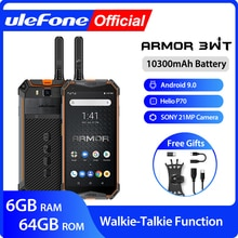 Ulefone Armor 3WT Walkie-Talkie Rugged Mobile Phone   Android 9.0  6GB 64GB 10300mAh  NFC 4G Globalv