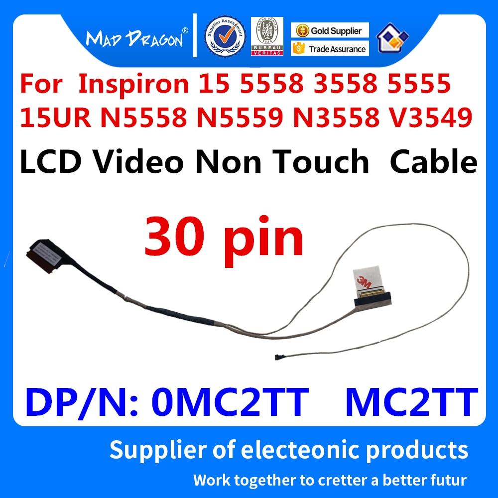 Portátil nuevo LVDS LCD EDP Video cable para Dell Inspiron 5558 15 3558 5555 15UR N5558 N5559 N3558 V3549 0MC2TT MC2TT DC020024C00