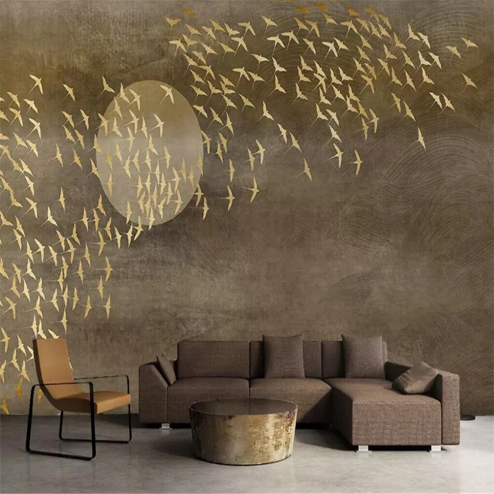 XUE SU Custom wallpaper creative Chidori TV sofa wall specializing in the production of murals factory wholesale coverings