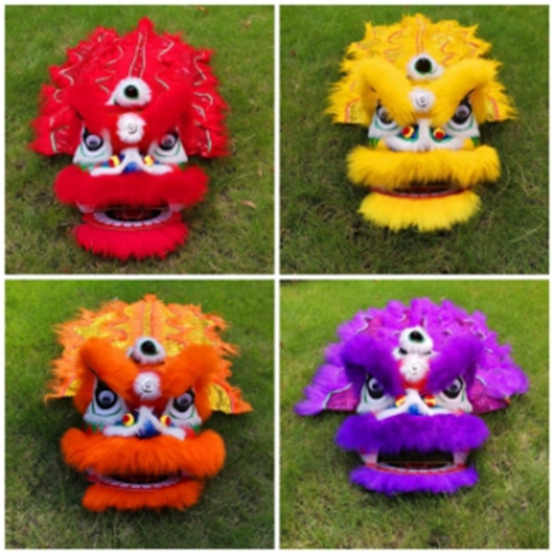 Classic Lion Dance Costume  Single 2-5 Age Kindergarten Children Play Party Performance Sport Outdoor Parade Parad Stage Mascot