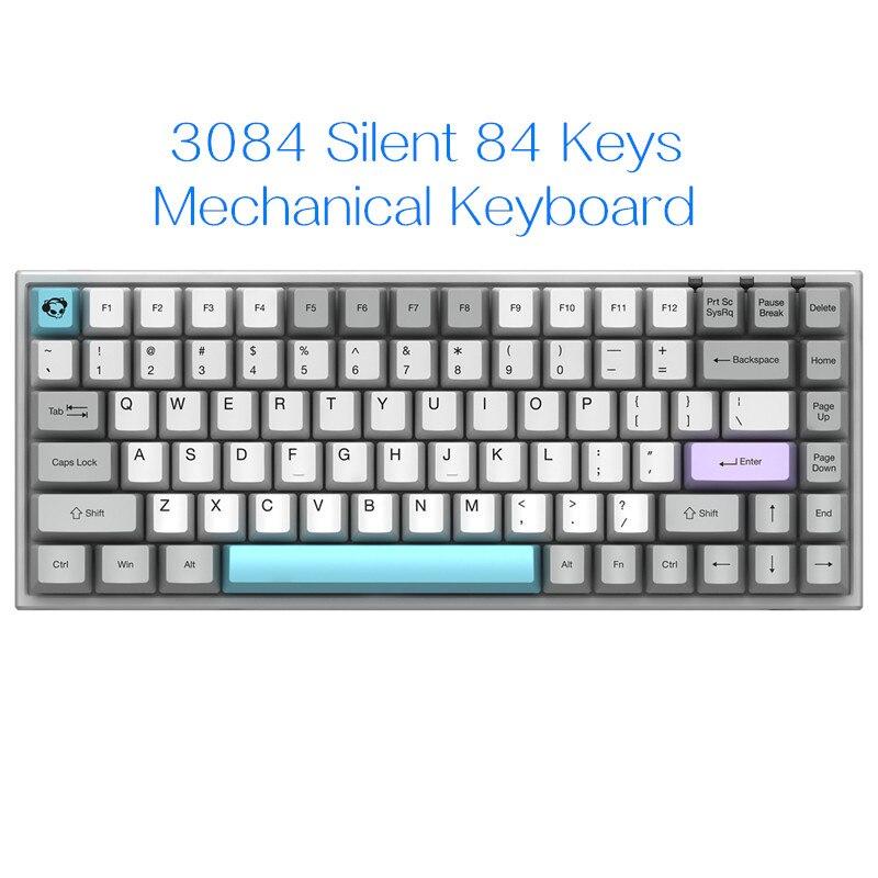 AKKO 3084 صامت 84 مفاتيح بلوتوث 5.0 لوحة المفاتيح الميكانيكية Type-C اللاسلكية Gateron التبديل الخلفية الألعاب لوحة المفاتيح PBT أغطية المفاتيح