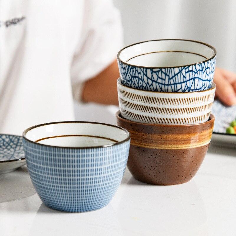 Copo de chá retro 150ml estilo vintage esmalte artesanal alta temperatura queima cerâmica xícara de água café porcelana chá tigela