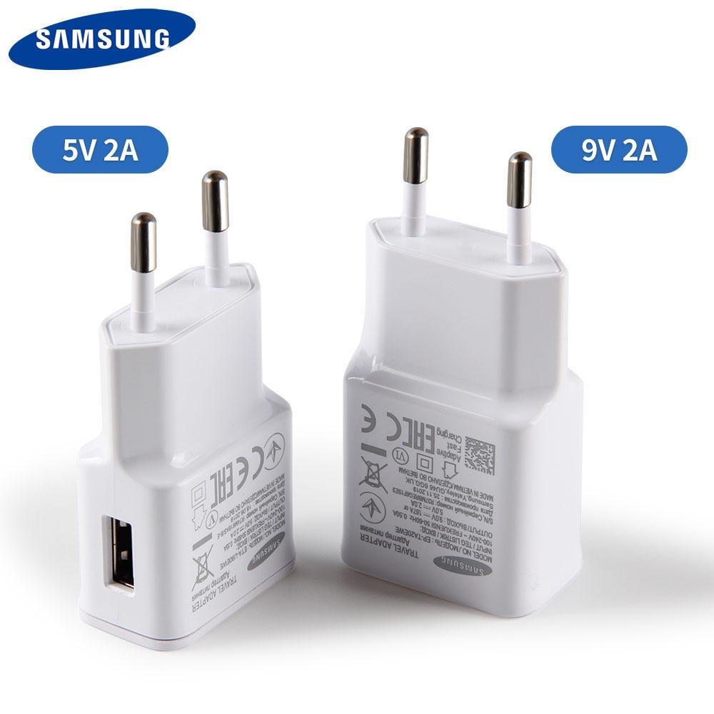 Original SAMSUNG de carga rápida cargador de pared para Galaxy S10 + S20 + S9 S10E S8 S7 S6 S5 S4 Note3 Note4 A3 A5 A7 Note10 + Note9 J5 J7