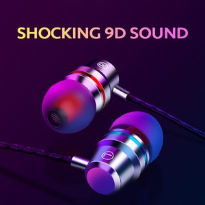 Wired Earbuds Headphones 3.5mm In Ear Earphone Earpiece With Mic Stereo Gaming Headset For Samsung Xiaomi honor Phone Computer