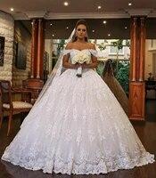 white lace ball gown dubai wedding dresses sweetheart off shoulder beading backless plus size saudi arabic