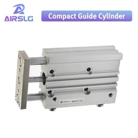 mgp mgpm50 mgpl50 compact guide cylinder thin three axis air pneumatic cylinder with guide rod mgpm50 25z 50z mgpl50 25z 50z