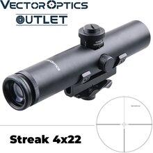 Mira telescópica de Rifle compacta de 4x22 AR .223 5,56, a prueba de golpes, con mango compacto