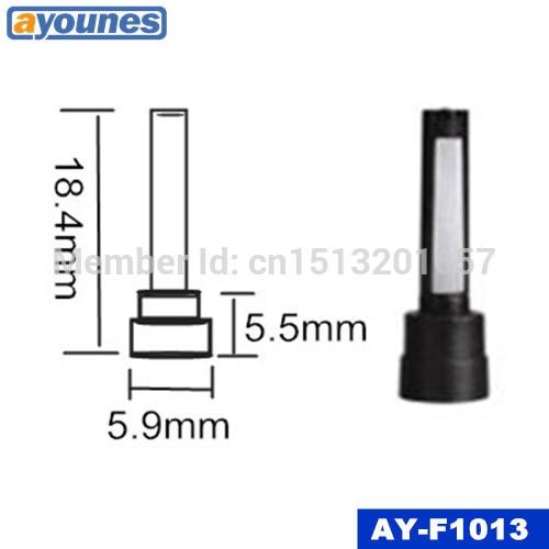 100 pces qualidade superior injector de combustível micro filtro para delphi 2 furos injector (18.4*5.5*5.9mm,AY-F1013)