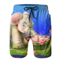 summer elephant board shorts men quick dry swimming trunks swimwear hombre vacation surf beach short pants casual male