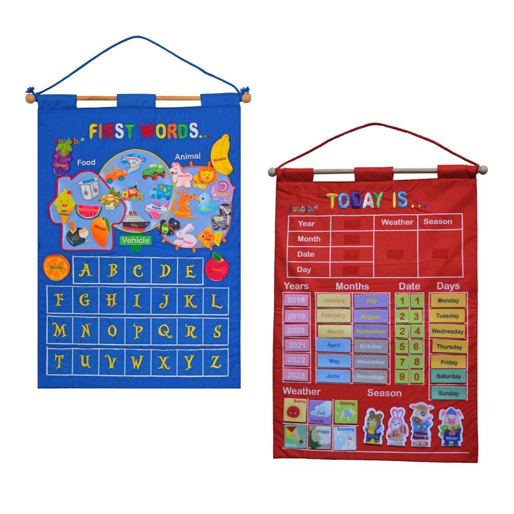 My Daily Calendar Seasonal or Letter Kids Room Wall Hanging