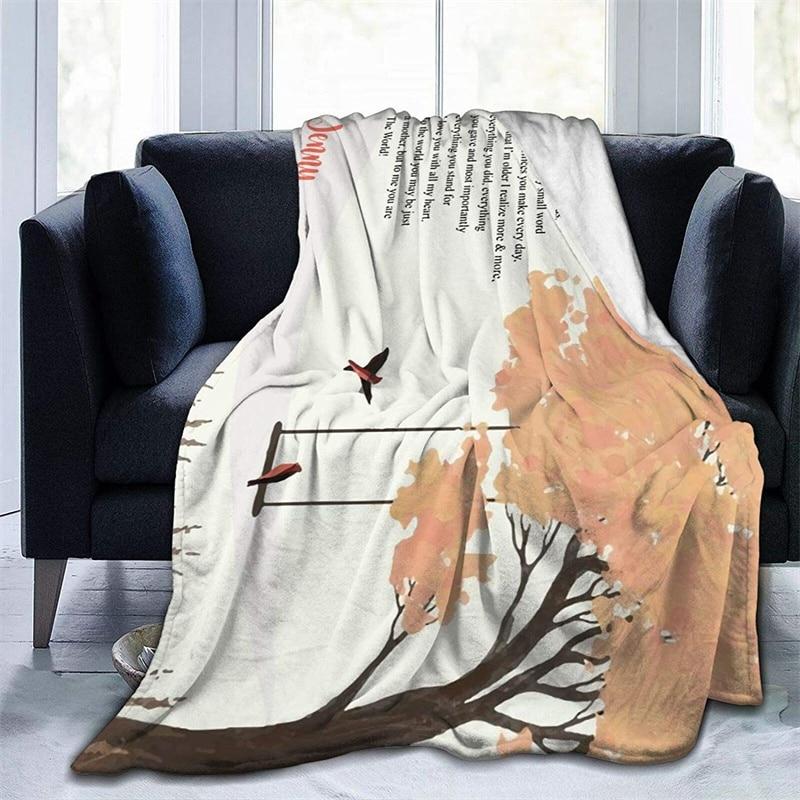 إلى أمي العظمى لينة أفخم هدية الفانيلا صوف ليف دقيق المفرش شيربا 3d-print بطانية الأريكة غرفة نوم ديكور