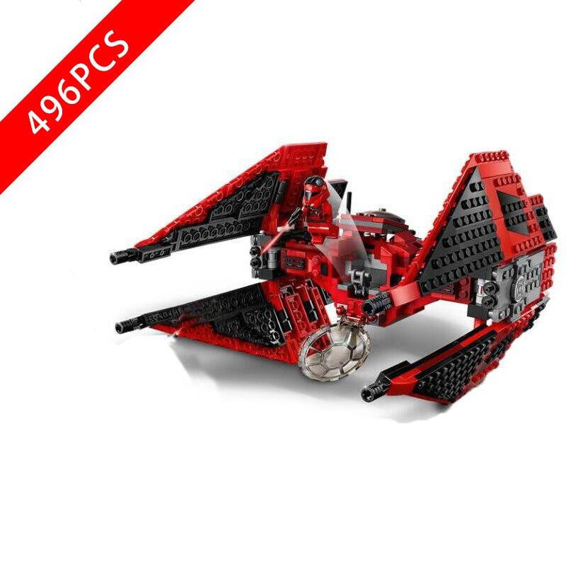 New Star Warsingd Major Vonreg's TIE Fighter Compatible lepinngly Star Warsing 75240 Building Blocks Toys for Kid Birthday Gift