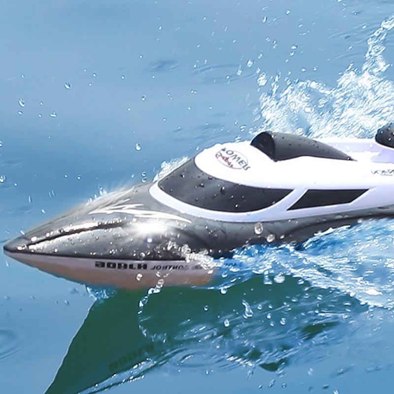 HGCYRC 2.4 جيجا هرتز fj806 كبير RC قارب سريع مع مصباح ليد 35km/ساعة 200ms نموذج مقاوم للماء عالية السرعة سباق السفينة الهدايا لعب للبنين