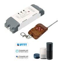 eWeLink 2CH Smart Wireless Timer Switch Module With 433mHz RF Controller Kit Smart WiFi Voice Control Switch For Amazon Alexa