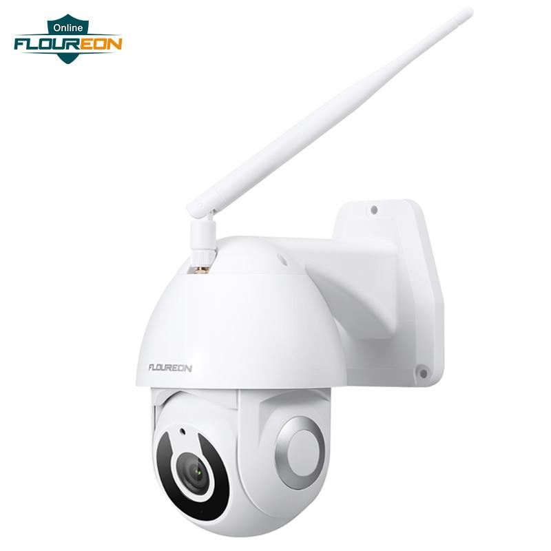 Floureon New Wireless WiFi IP Camera IP66 Weatherproof Outdoor 1080P HD Camera Smart Motion Tracking App Alarm Work With Alexa