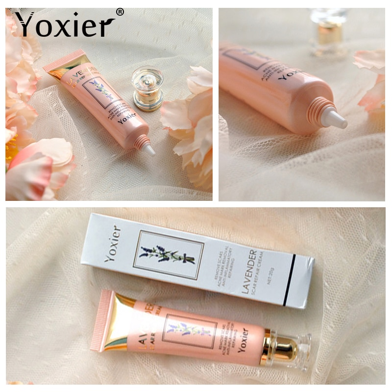 Купить с кэшбэком Yoxier Repair Scar Cream Acne Scar Stretch Marks Skin Care Pigmentation Corrector Anti-allergic Calm Whitening Face Cream 1pcs