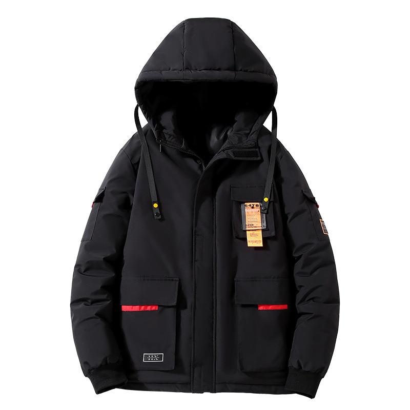 Мужская Длинная ветровка размера плюс, мужское пальто, мужская верхняя одежда, черная Повседневная свободная новая куртка