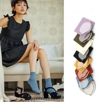 high quality multi color soft velvet street fashion cotton sole outing breathable ease match woman living home middle tube socks