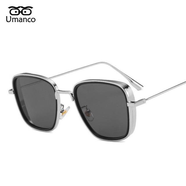 Umanco 2021 Steampunk Cool Kabir Square Sunglasses For Women Men Alloy Frame AC Lens Designer Brand Beach Travel Shade Gifts 4