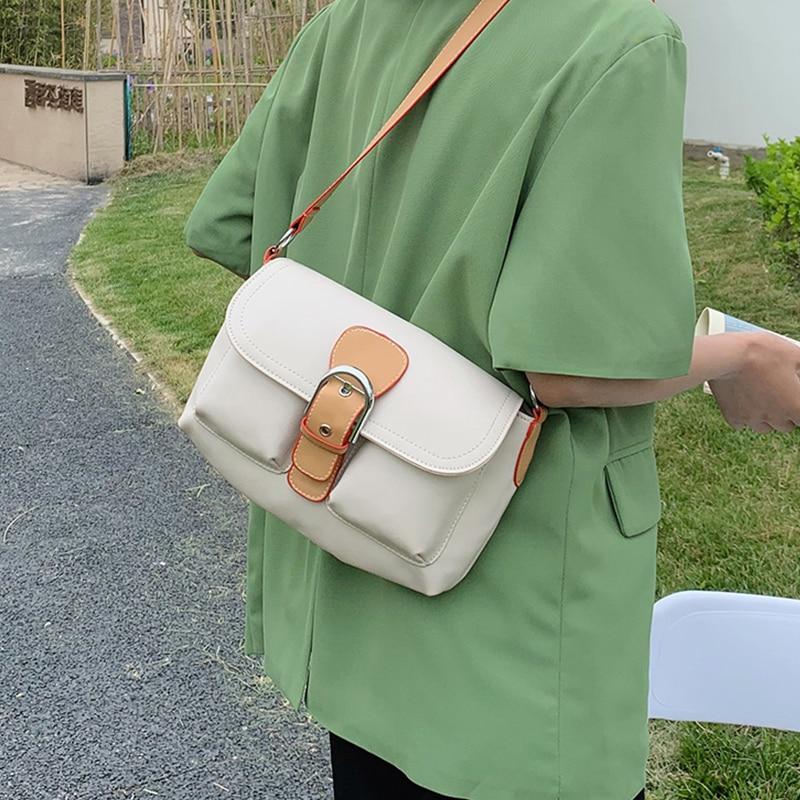Small Pu Leather Shoulder Bags for Women 2021 New Chic Messenger Bag Ladies Simple White Handbag Trending Designer Crossbody Bag