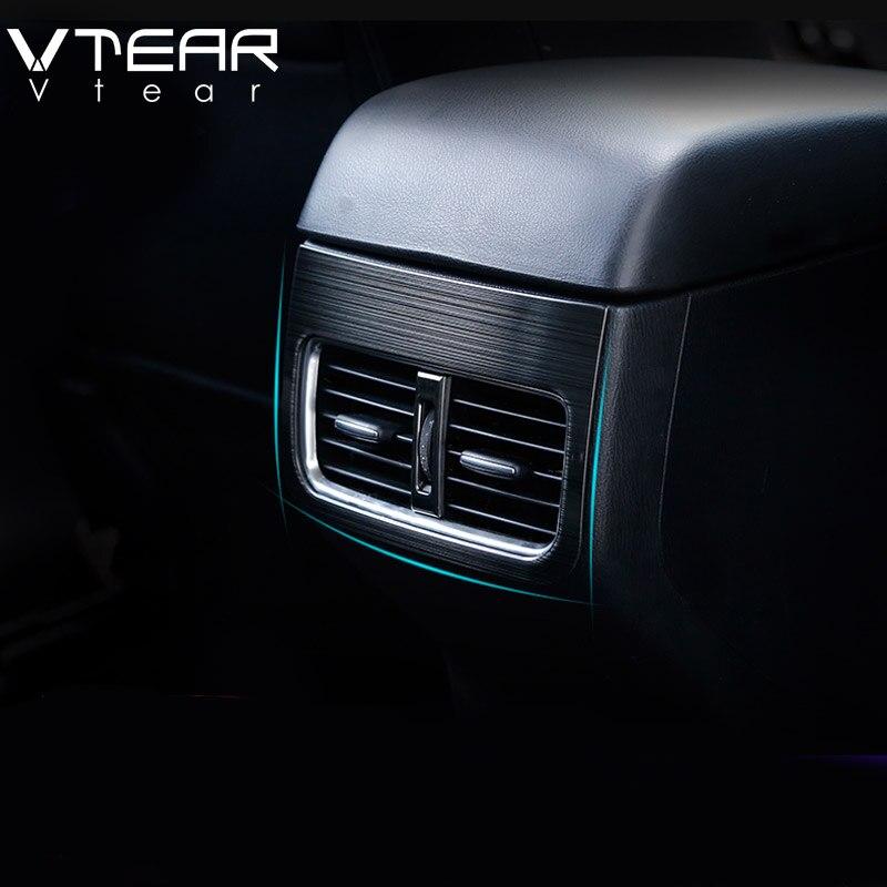 Vtear para Mazda CX-5 CX5 2020-2017 Accesorios compartimento de reposabrazos para coche para aire acondicionado trasero cubierta para MARCO DE SALIDA molduras interiores