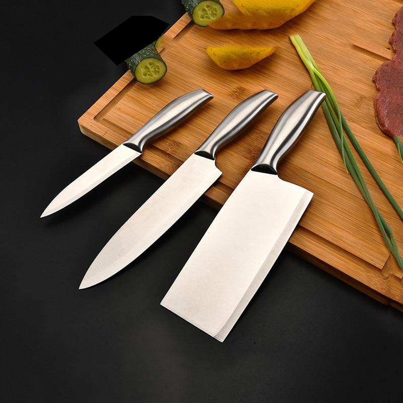 Набор острых ножей из нержавеющей стали, ножи сантоку для обвалочных костей, инструменты для приготовления рыбы, суши в японском стиле