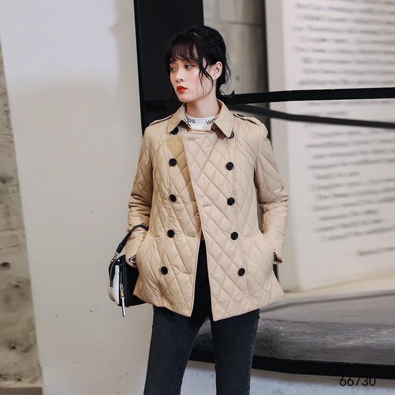 2019 Otoño Invierno Chaqueta corta para mujer abrigo grueso de algodón abrigo de gran tamaño para mujeres abrigo femenino cálido chaquetas 2XL