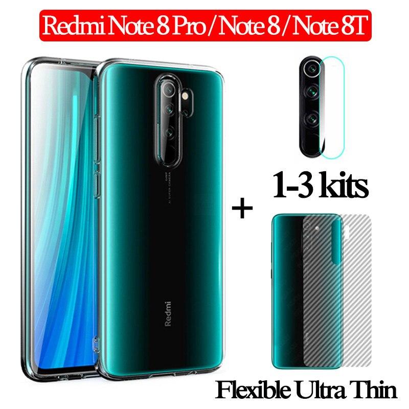 1-3kits lens glass for Redmi 8T Xaomi Note8 9Pro Clear Case Back Film Xiaomi Redmi Note 8Pro Ultra Thin Back Cover Mi Note8 T
