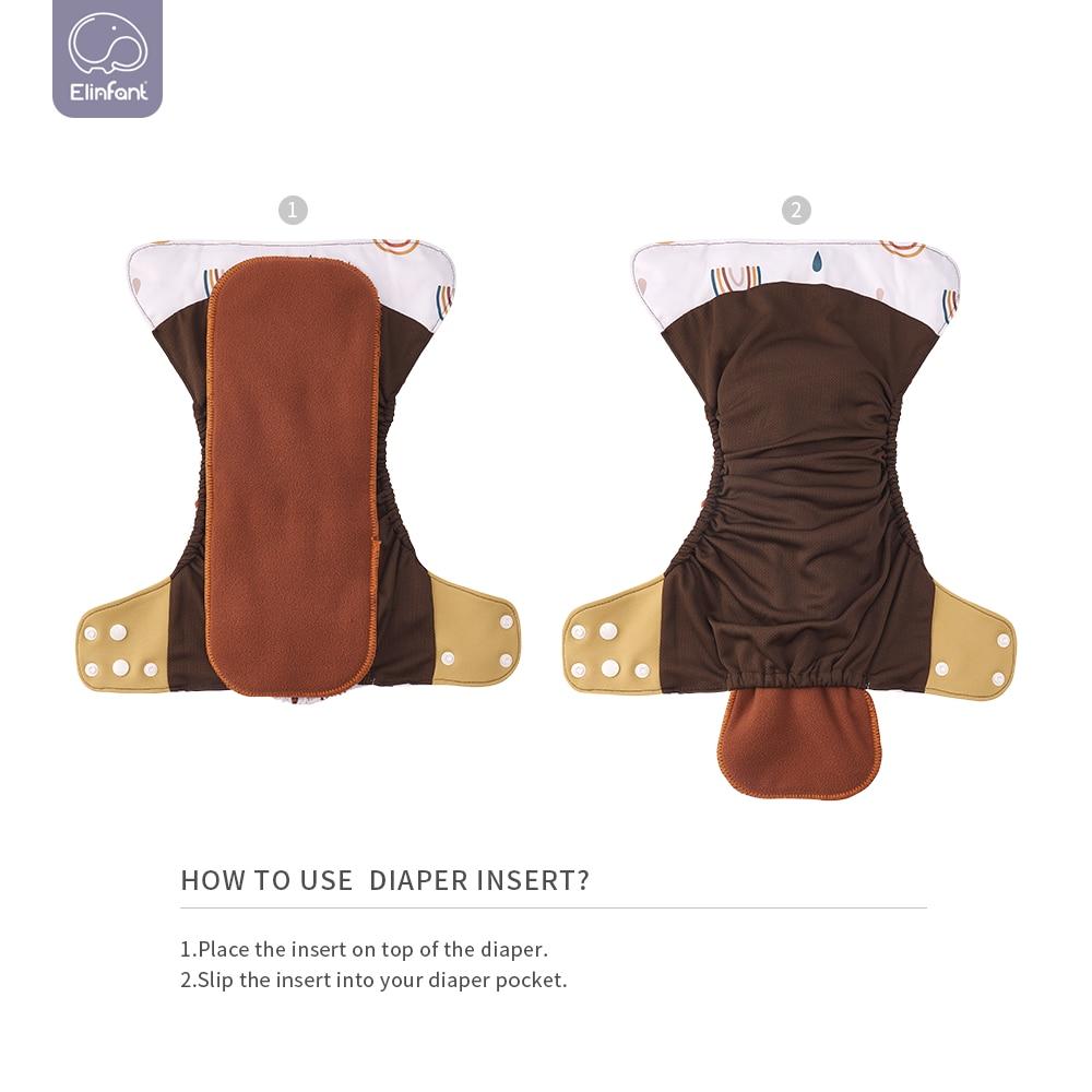 Elinfant wholesales100pcs New 4pcs/set Washable coffee mesh Cloth Diaper cover Adjustable Nappy Reusable Cloth pocket Diapers enlarge