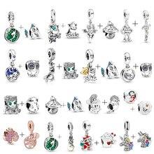 2 pièces/lot 45 Styles océan série breloques perles pendentif ajustement Original Pandora breloque Bracelets colliers pour femmes bricolage fabrication de bijoux