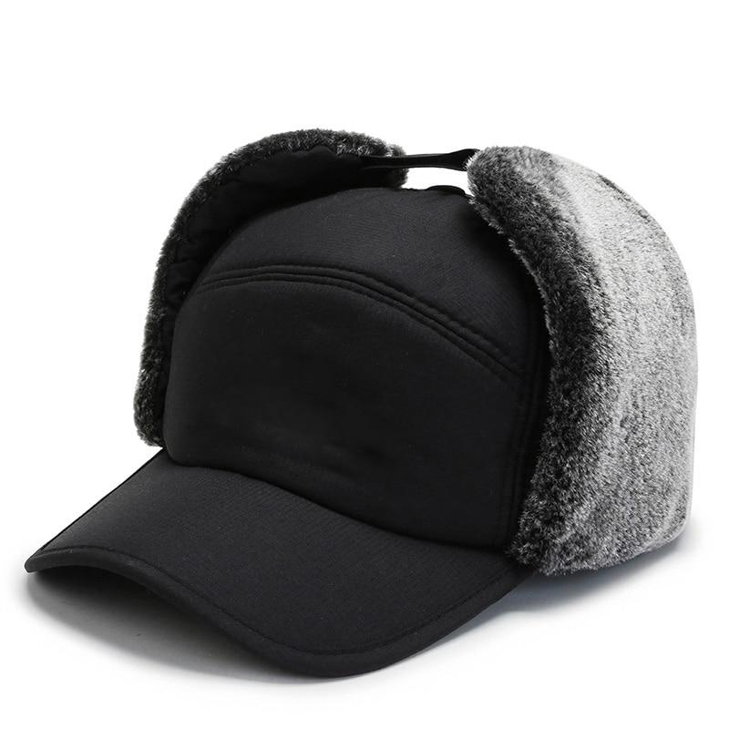 Men Women Winter Thermal Bomber Hats Head Protector Warm Furry Comfortable Adjustable Outdoor Riding Ski Cap Bomber Cap enlarge