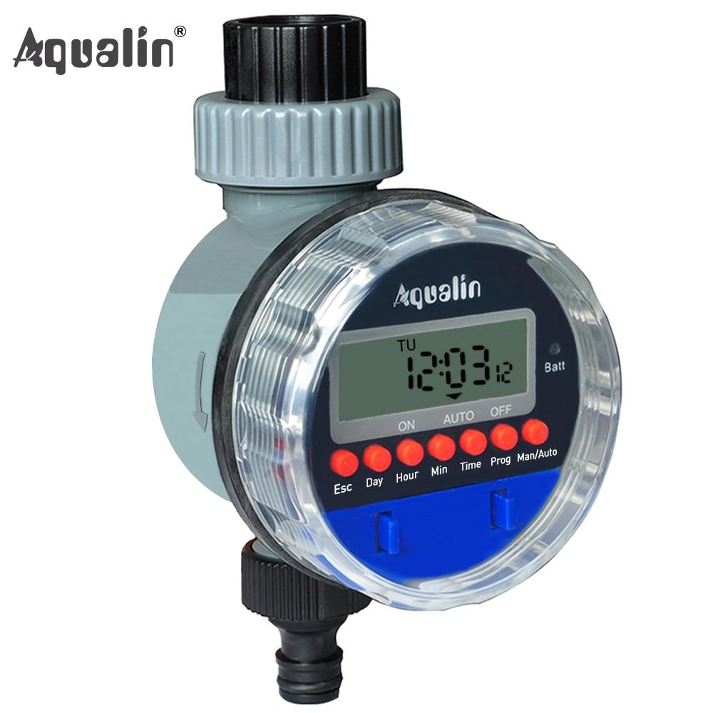 Temporizador de rega automático com display LCD válvula de esfera de jardim doméstico eletrônico temporizador de água para controlador de irrigação
