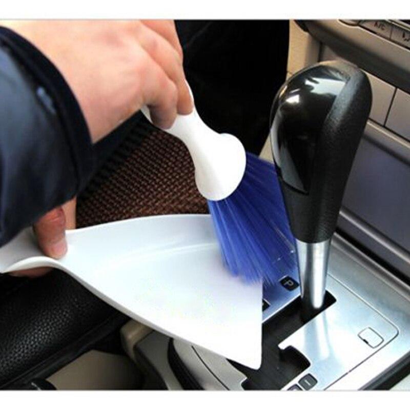 Conjunto de cepillo de limpieza con detalle para el coche, herramientas de lavado y limpieza con detalle automático, accesorios para Mini recogedor con salida de ventilación de aire acondicionado para el salpicadero