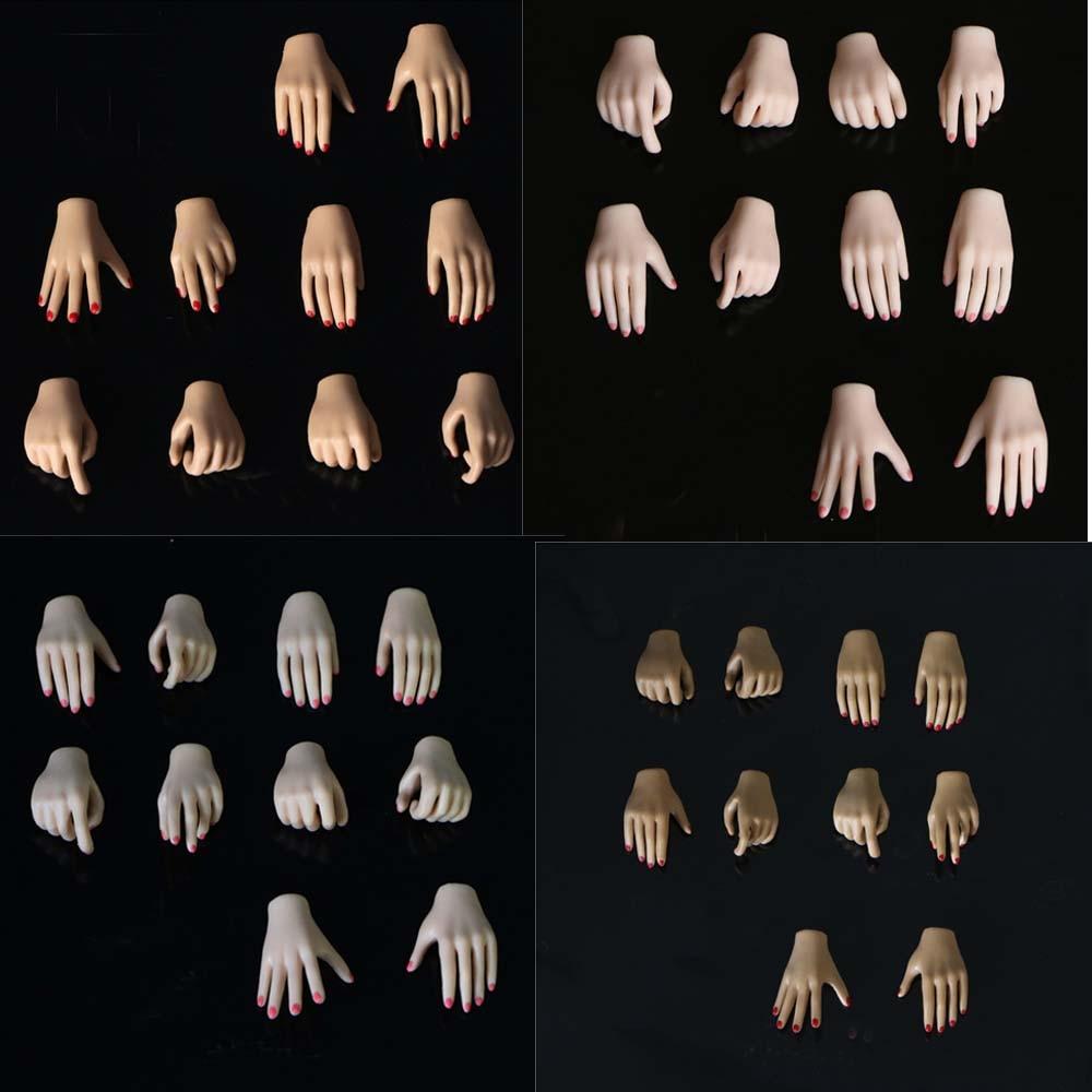 5 pares de manos modelo 1/6 escala femenina soldado inclusión cuerpo reemplazable tipo de mano para 12in Phicen JIAOUL modelo de cuerpo de juguete